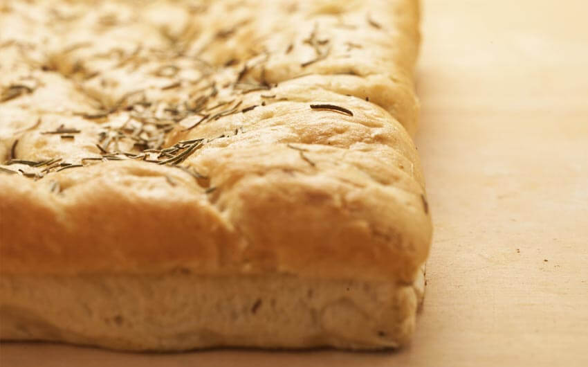 Genovese focaccia bread with rosemary