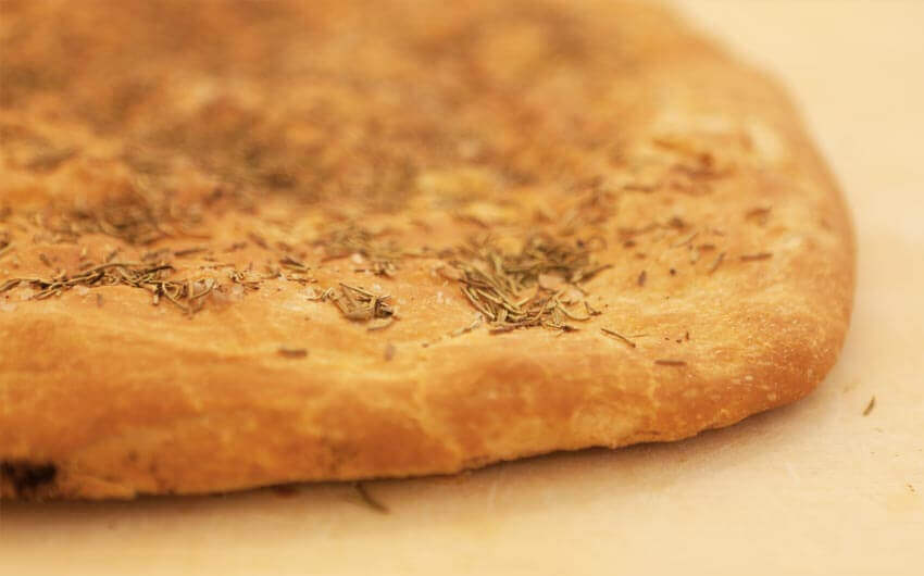 Spianata bread with rosemary