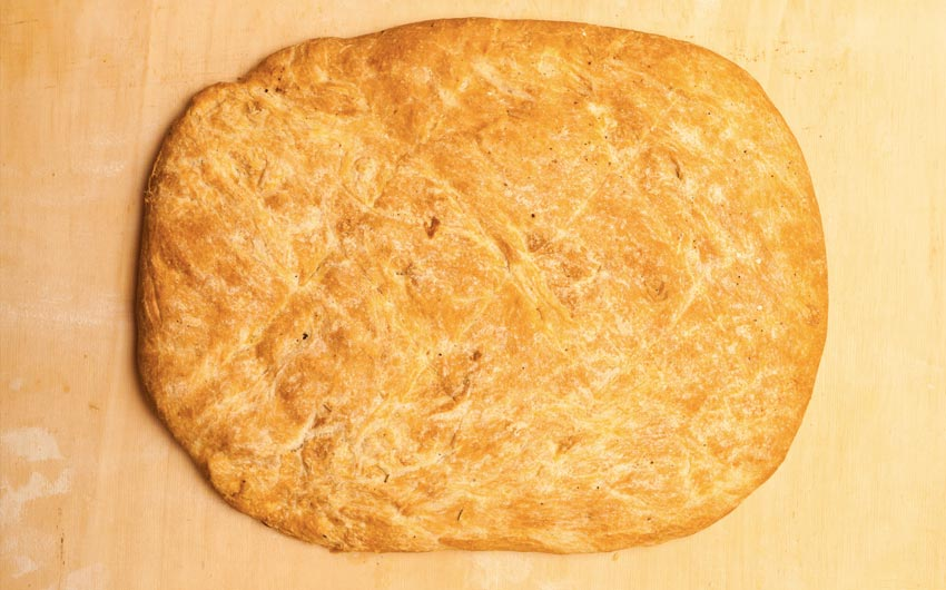 Spianata bread with lard
